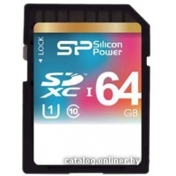 Карта памяти Silicon-Power SDXC UHS-1 (Class 10) 64GB (SP064GBSDXC10V10)