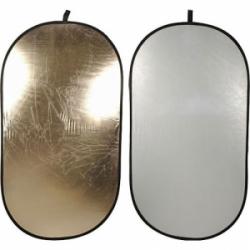 Отражатель светло-золотистый/белый 2 в 1 107x152 см