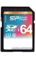 Карта памяти Silicon-Power SDXC UHS-1 (Class 10) 64GB (SP064GBSDXC10V10)