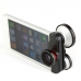 Объектив 4 в 1 для iPhone 5\5s: Fisheye, Macro, Wide andge, Super Fisheye